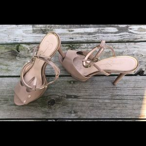 Nude heels by Jessica Simpson